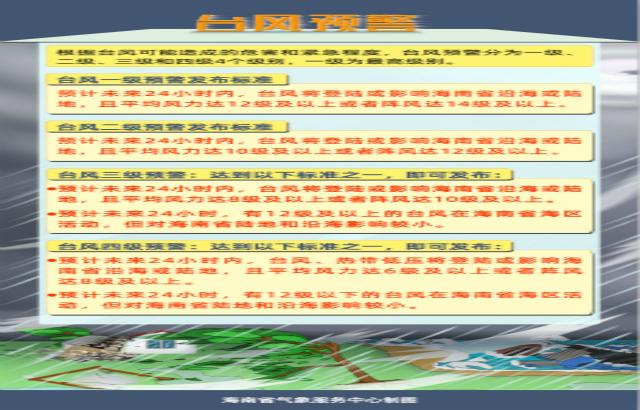 海南省气象局2020年10月22日17时00分提升台风四级预警为台风三级预警