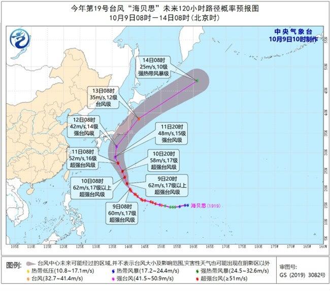 """今明天台风""""海贝思""""对我国近海海区无影响"""