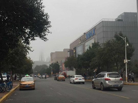 黑龙江浓雾袭城多地能见度不足百米,多地市发布大雾预警信号。
