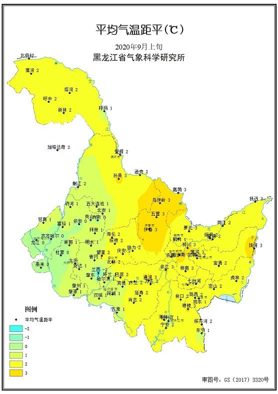 9月上旬农业气象旬报