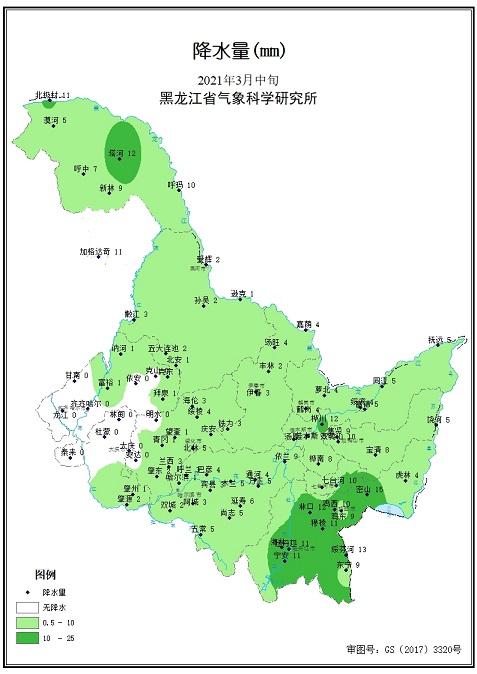 3月中旬農業氣象旬報
