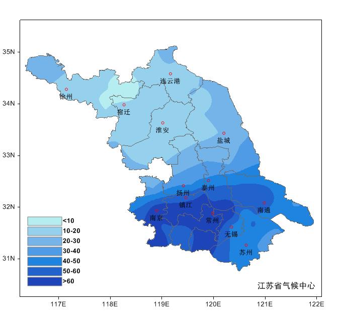 江苏省2020年4月气候影响评价