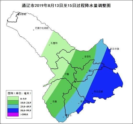 内蒙古旱情缓解 今夜通辽市有强降水气象灾害风险高