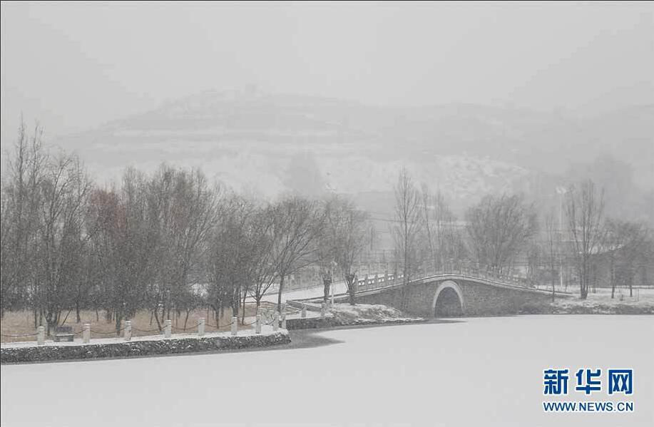 塞上雪景如诗如画