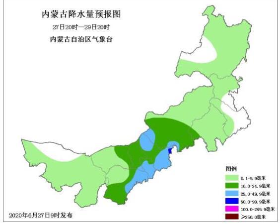 内蒙古迎来大范围降雨天气