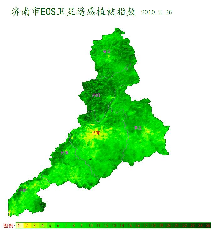 卫星遥感监测植被指数图