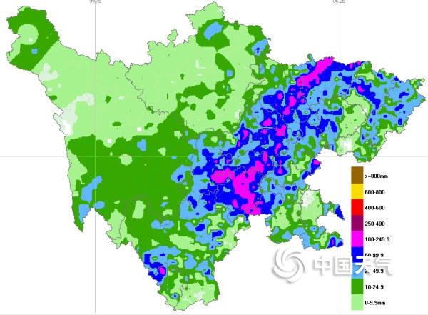 四川暴雨浇灭40℃高温 一夜之间气温陡降10℃以上