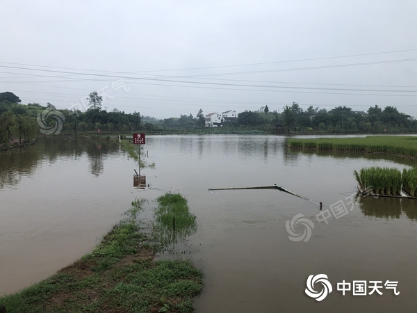 隆昌遭遇大暴雨天气袭击