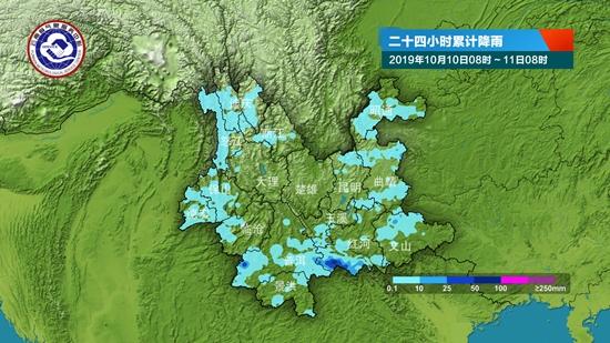 受弱冷空气影响 周末滇中及以东以南有雨 并伴随强对流天气