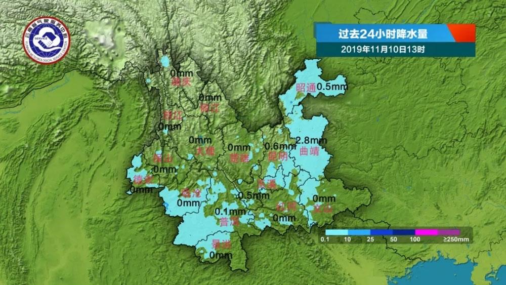 明天滇西北、滇西南、滇东北北部有小雨局部中雨
