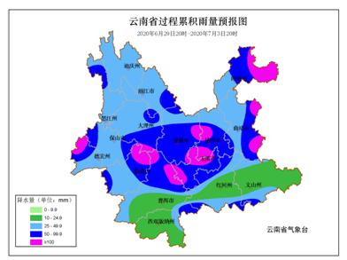 6月29日夜间至7月3日我省自北向南将出现强降水天气