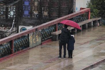 路桥:冷空气来袭 小年雨水暂歇