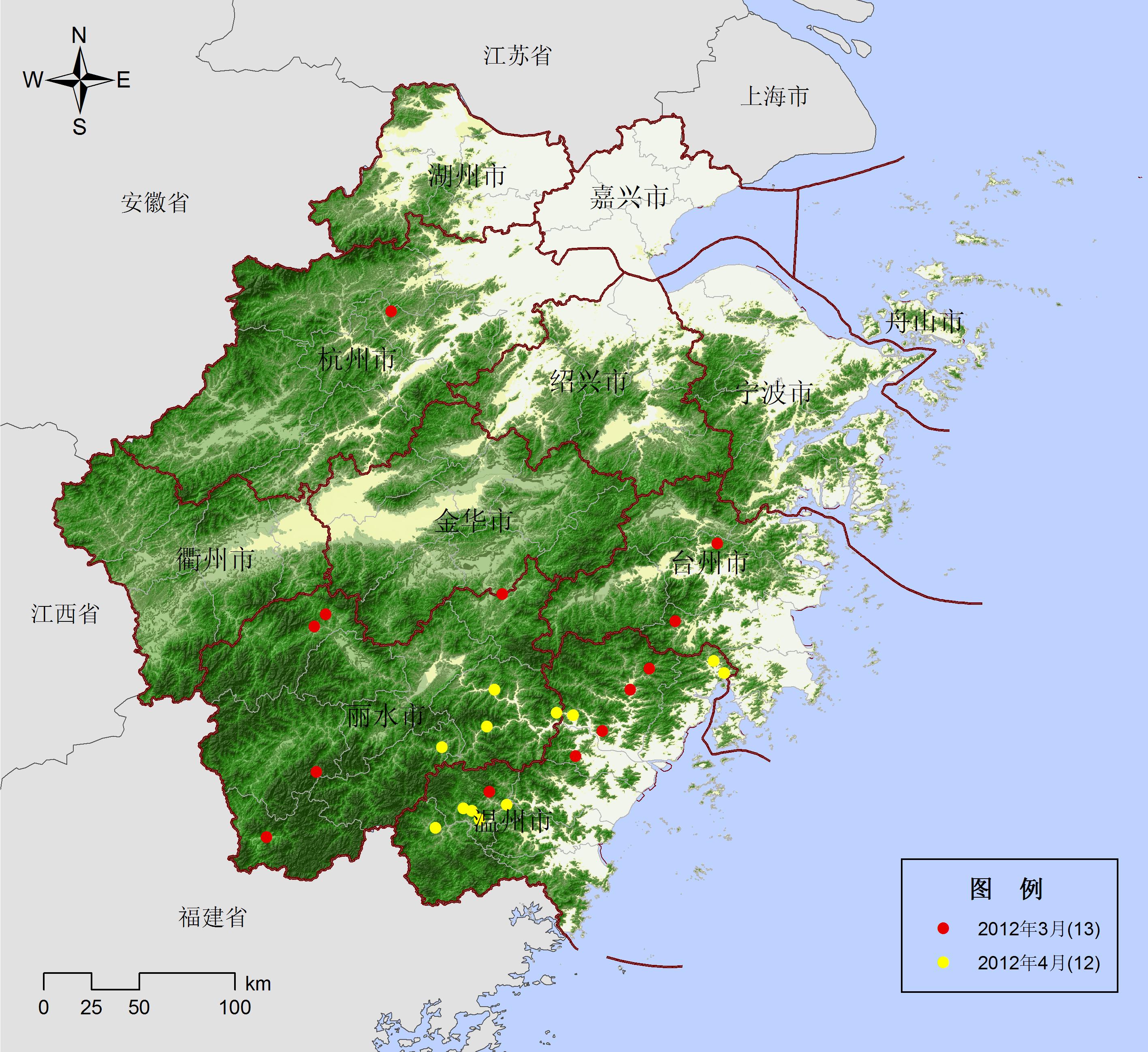 青田县鹤城镇地图