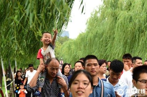 杭州降温不降人气 天凉热游西湖