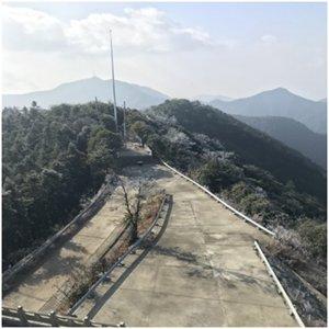 冷空气影响之后雷达站现雾凇美景
