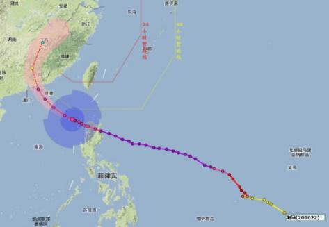 """台风""""海马""""将于明天(21日)下午在广东登陆,22-23日我省部分地区有大雨"""