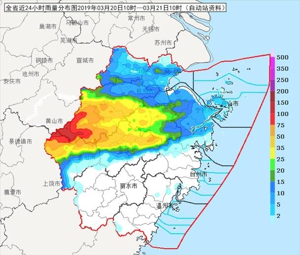 今天浙江仍有较强降雨 注意防范强对流天气