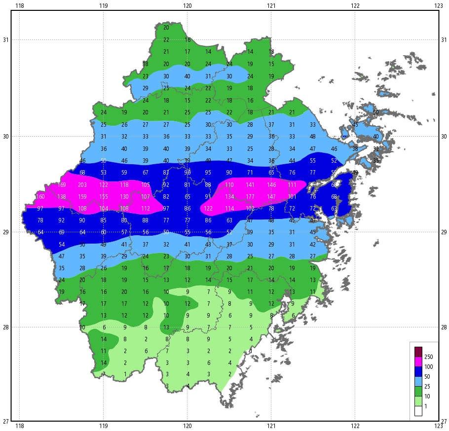 明天后天浙中北部分地区有大雨暴雨 局部大暴雨