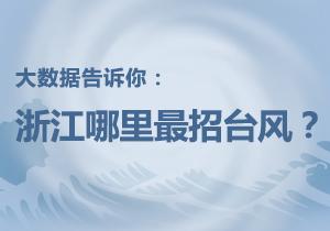 大数据告诉大嘴棋牌app:浙江哪里最招台风?