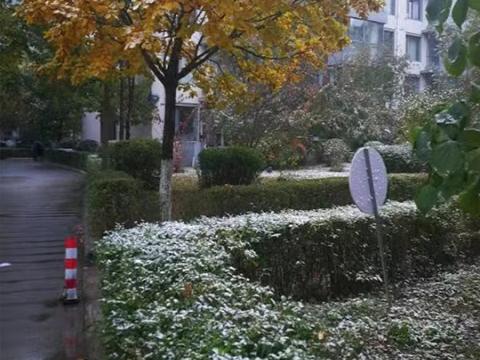 吉林长春迎来今年下半年来首场降雪