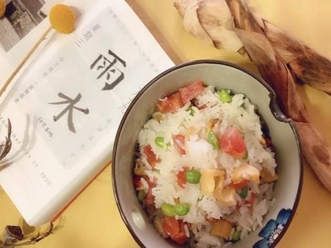 春笋青豆焖饭 雨水时节好味道