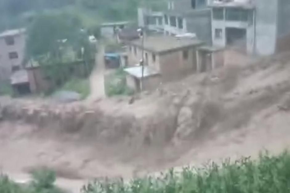 甘肃宕昌突发山洪 部分乡镇受灾严重