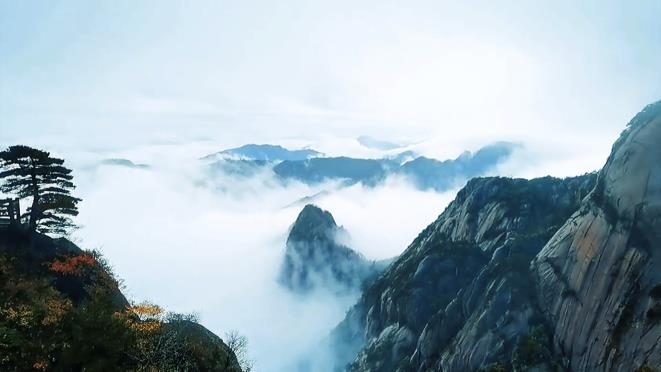 安徽黄山 烟雨中邂逅梦幻云海