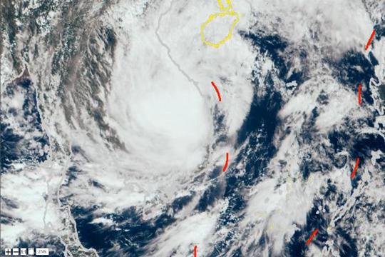 """星眼看地球:台风""""莫拉菲""""登陆越南"""