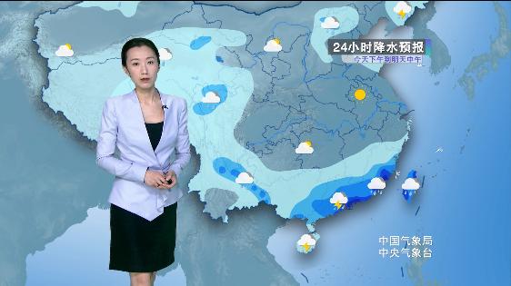 华南雨势集中 东北 华北多阵型降雨