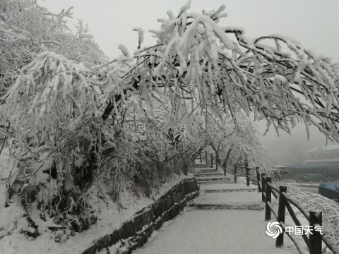 冬日巴蜀山川秀  峨眉雪景冠西南