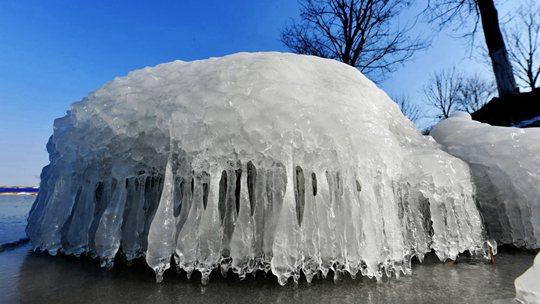一组图看极寒天气下的独特景观
