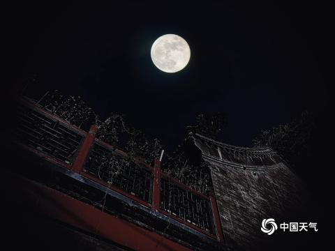 美!中秋佳节北京皓月当空