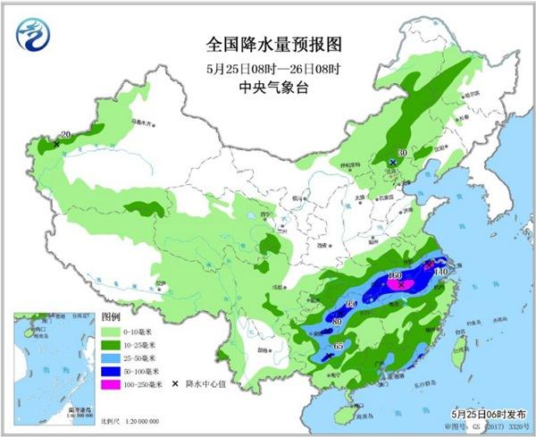 """南方强降雨今日进入最强时段  冷空气给北方""""退烧"""""""