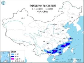 暴雨预警!江西福建广西等地局部地区有大暴雨 警惕强对流