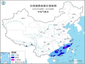 暴雨黄色预警 江西福建广西等地局部有大暴雨