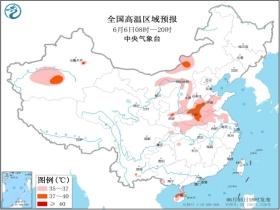 高温黄色预警 内蒙古山东河南海南等地最高温可达37至39℃