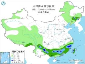 广东福建等地有较强降雨 高温范围缩减
