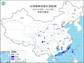 暴雨蓝色预警:广东福建四川台湾等地部分地区有大暴雨
