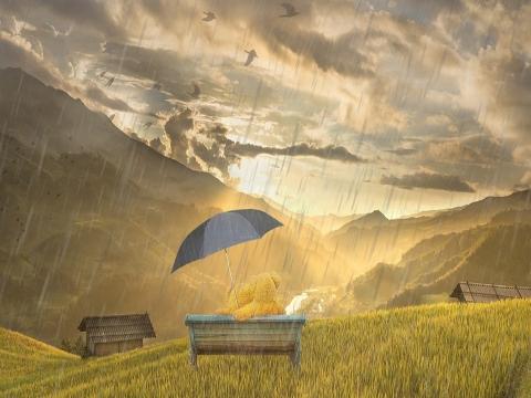 暴雨竟然导致美女出现幻觉?